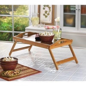 Bamboo wooden tray and table - waseeh.com