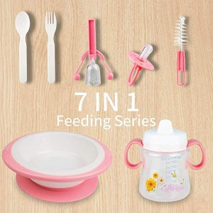 7 Piece Baby Tableware Feeding Sets BPA Free - waseeh.com