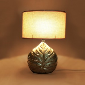 Ceramic Table Lamp with Shade with Bulb - waseeh.com