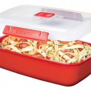 1.25L Rectangle Microwave Box - Sistema - waseeh.com