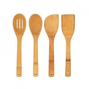 4in1 Wooden Cooking Spoons and Spatulas (Bamboo) - waseeh.com