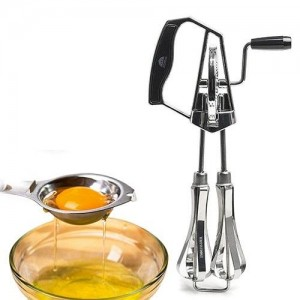 Manual Hand Beater & Egg Whisk - Silver - waseeh.com