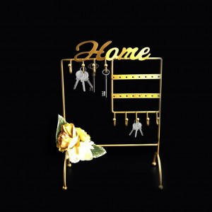 Home Key Holder Golden With Flower - waseeh.com