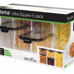 Tritan Ultra Square 5 Pack Set Container - waseeh.com