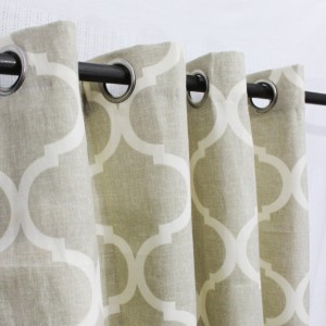 "Beige Geometric - Curtain With Lining - Single Panel - 43"" x 96"" - waseeh.com"