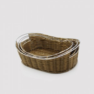 Braided Basket - Set of 3 - Oval - waseeh.com