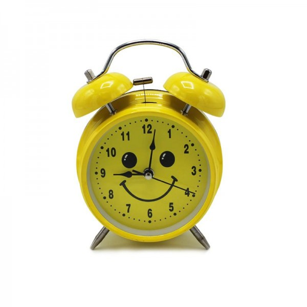 Kids Table Vintage Bell Clock - Smiley - waseeh.com