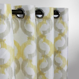 "Safran Motif - Curtain With Lining - Single Panel - 50"" x 90"" - waseeh.com"