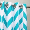 "Zig Zag Designed Curtain With Lining - Single Panel - 44"" x 96"" - waseeh.com"
