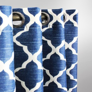 "Geometric - Curtain With Lining - Single Panel - 44"" x 96"" - waseeh.com"