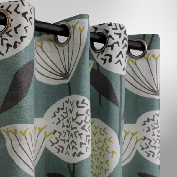 Tulip Floral - Curtain With Lining Single Panel - 46'' x 96'' - waseeh.com