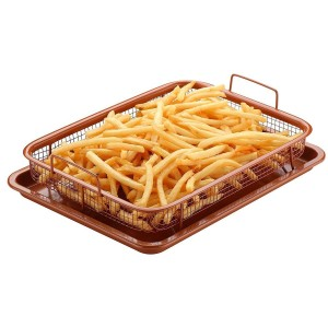 2 PC Copper Crisp Tray - waseeh.com