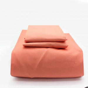 Fitted Sheet with 2 Pillow Covers - Peach - waseeh.com