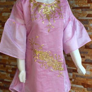 Golden Thread - Embroided - Pink - Ladies - waseeh.com