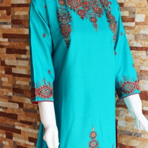 Lawn Stitched Embroidery Shirt - Froozi - waseeh.com