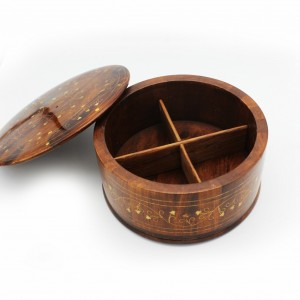 "Portioned Wooden Hot Pot - 9.5"" - waseeh.com"