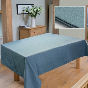 Table Cover Duck Cotton - Blue Textured - waseeh.com