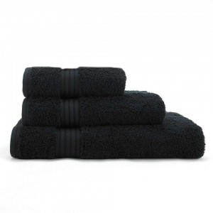 Black Egyptian Cotton Towel - Pack of 3 - waseeh.com