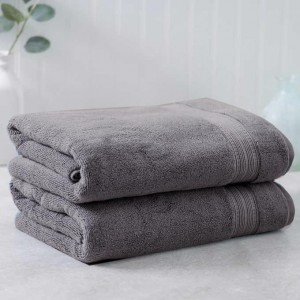 Dark Gray Egyptian Cotton Towel - Pack of 2 - waseeh.com