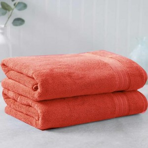 Carrot Red Egyptian Cotton Towel - Pack of 2 - waseeh.com