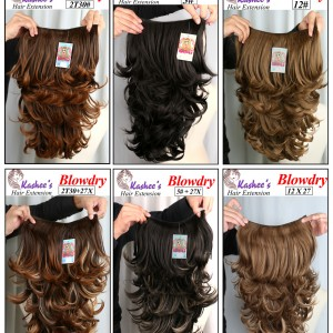 Kashee`s blowdry hair extentions