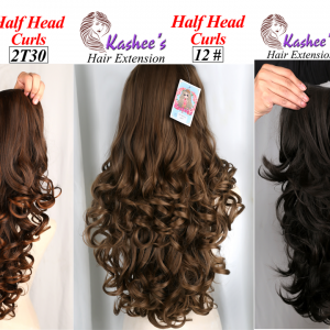 kashee`s half head curls hair extensions