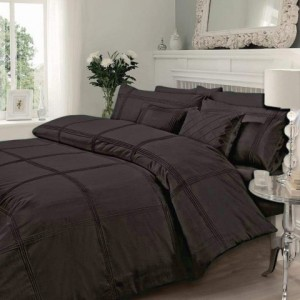 Luxury Pleated Duvet Set (Brown)
