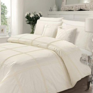 Luxury Pleated Duvet Set (Cream)